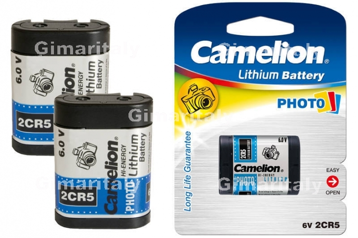 Batteria 2CR5 DL245 EL2CR5 Litio 6V Camelion