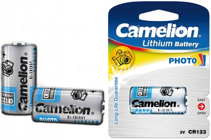 Batteria Pila CR123 DL123A 6205 3V a Litio Camelion