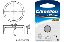 Batteria a bottone CR1632 DL1632 3V Litio Camelion