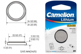 Batteria a bottone CR2430 DL2430 3V Litio Camelion
