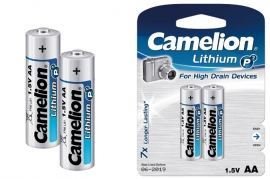 Batterie Stilo AA LR6 Litio Camelion BL 2