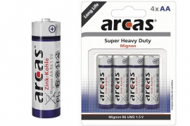 Batterie Stilo AA R6 Super Heavy Duty Arcas BL 4