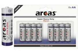 Batterie Stilo AA R6 Super Heavy Duty Arcas BL 8