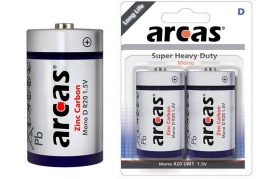 Batterie Torcia D R20 Super Heavy Duty Arcas BL 2