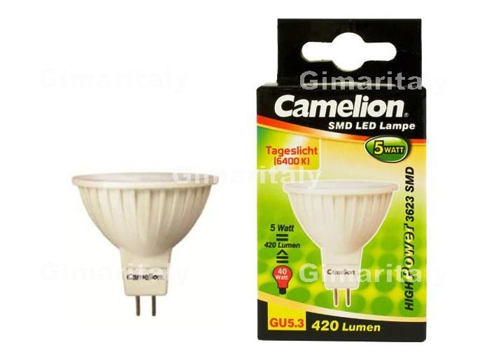 Camelion lampada led smd w attacco gu k luce bianca