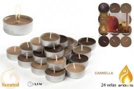 Candele profumate tealight cannella Ambients x 24