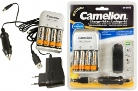 Caricabatterie AA/AAA + 4 Stilo 2700mAh 12V Camelion BC-0903