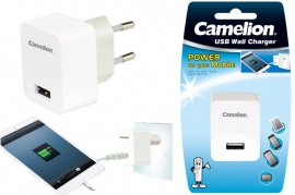 Caricabatterie USB 1A 220V Camelion AD568