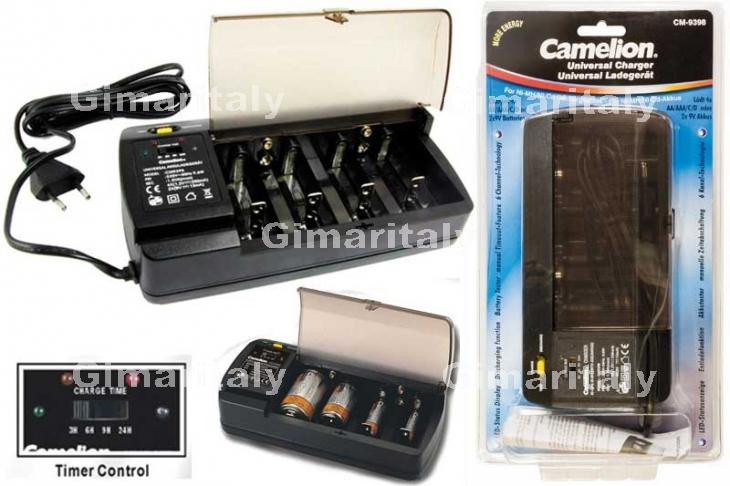 Caricabatterie Universale AA/AAA/C/D/9V Camelion CM-9398