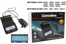 Caricabatterie Universale AA/AAA/C Litio LCD Camelion CM-500