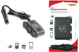 Caricabatterie Universale da auto 12V 3 in 1 Heithech