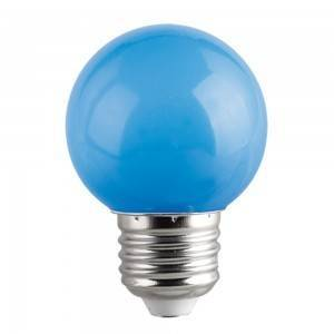 Lampadina Led E27 miniglobo G45 1W Colorata Blu Spectrum