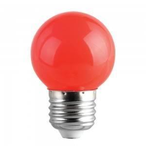 Lampadina Led E27 miniglobo G45 1W Colorata Rossa Spectrum
