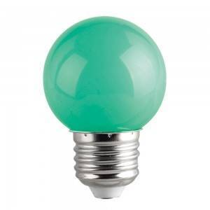 Lampadina Led E27 miniglobo G45 1W Colorata Verde Spectrum