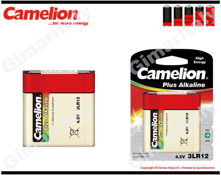 Batteria Pila 4,5V Piatta Alcalina Camelion