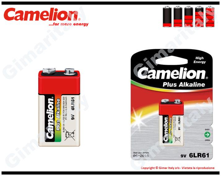 Batteria Pila 9V Transistor Alcalina Camelion