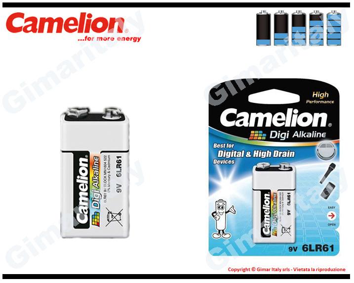 Batteria Pila 9V Transistor Digi Alcalina Camelion