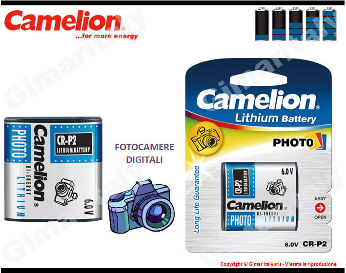 Batterie CRP2-DL223-EL223AP Litio 6V Camelion