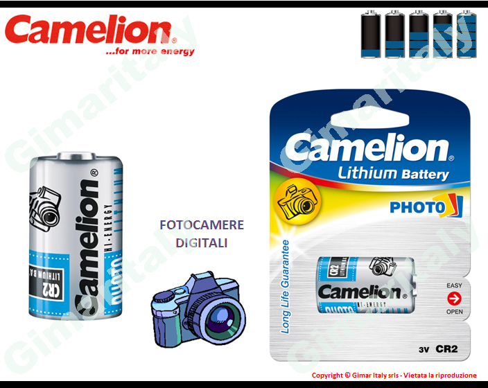 Batterie CR2-DLCR2 Litio 3V Camelion