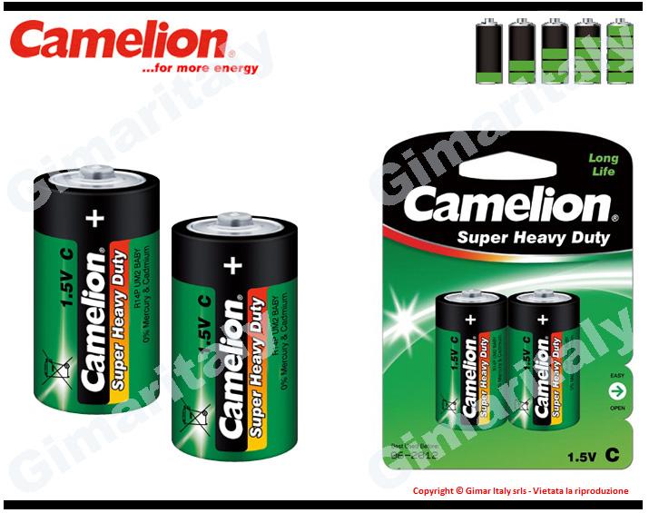 Batterie Pile R14 C Mezzatorcia Super Heavy Duty 1.5V Camelion