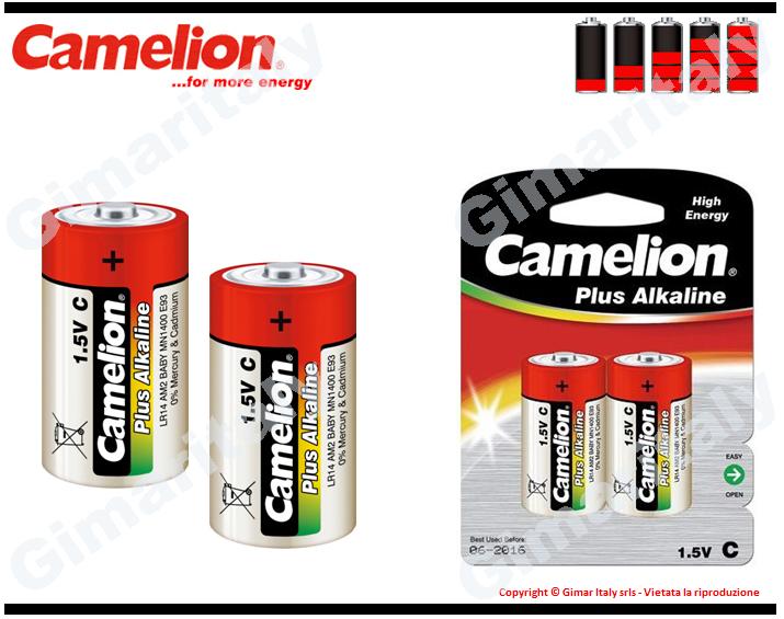 Batterie Pile R14 C Mezzatorcia Alcaline 1,5V Camelion