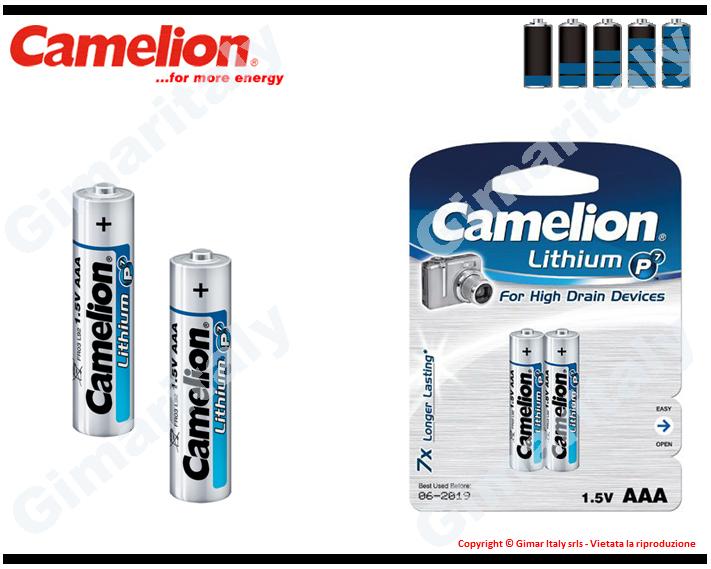 Batterie Pile Ministilo AAA LR03 FR03 Litio Camelion
