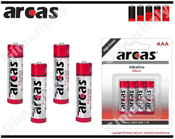Batterie Pile Ministilo AAA LR03 Alcaline Arcas