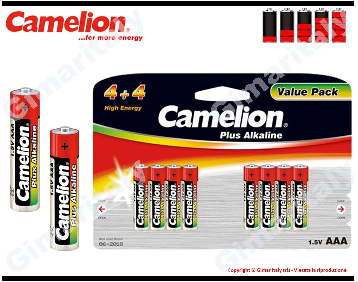Batterie Pile Ministilo AAA LR03 Alcaline x8 Camelion