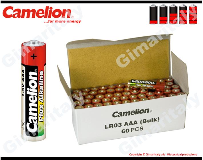 Batterie Pile Ministilo AAA LR03 Alcaline box 60 Camelion