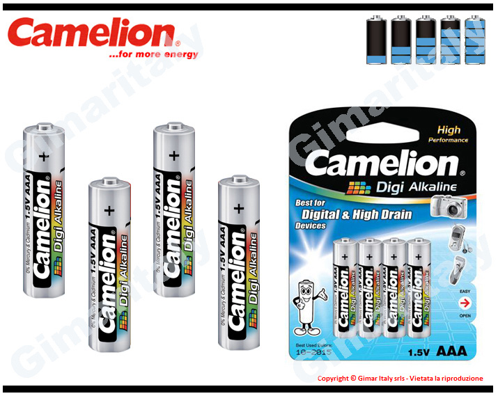 Batterie Pile Ministilo AAA LR03 Digi Alcaline Camelion