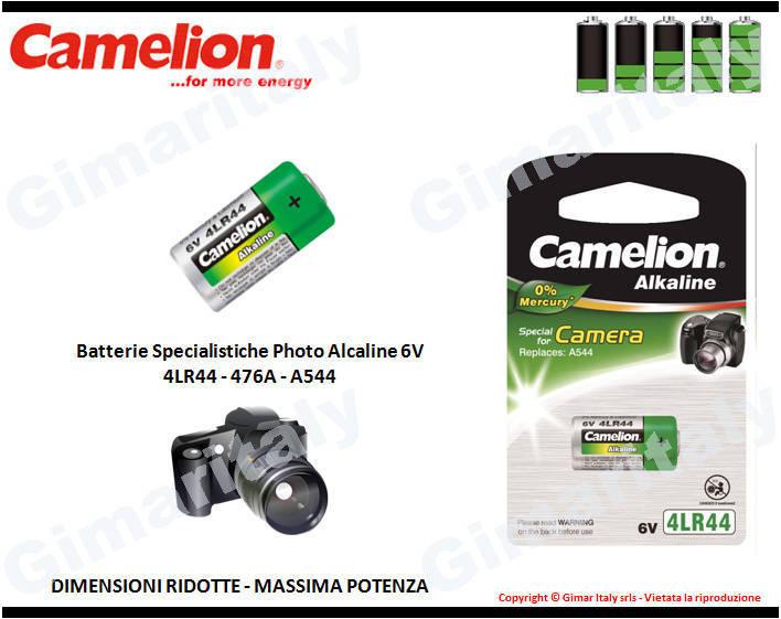 Batterie Specialistiche 4LR44-476A-A544 Alcaline Camelion
