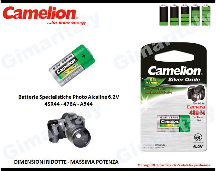Batterie Specialistiche 4SR44-476A-PX28 Ossido Argento Camelion