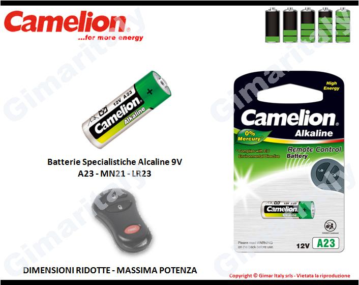 Batterie Specialistiche A23-MN21-LR23 Hg0% Alcaline Camelion