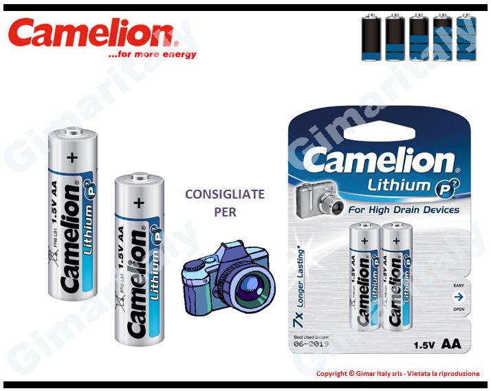 Batterie Pile Stilo AA LR6 FR6 Litio Camelion