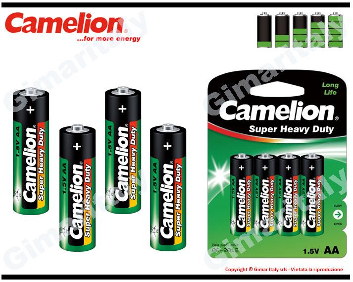 Batterie Pile Stilo AA LR6 Super Heavy Duty Camelion
