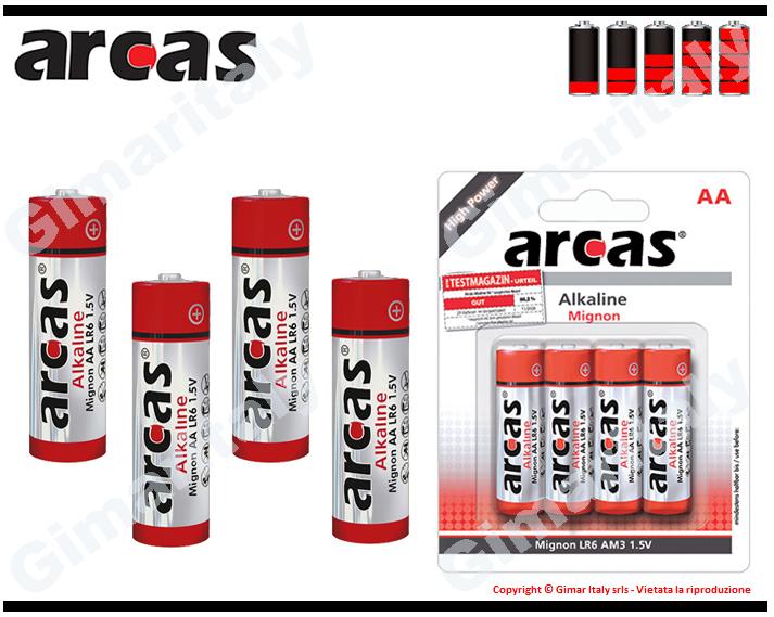 Batterie Pile Stilo AA LR6 Alcaline Arcas