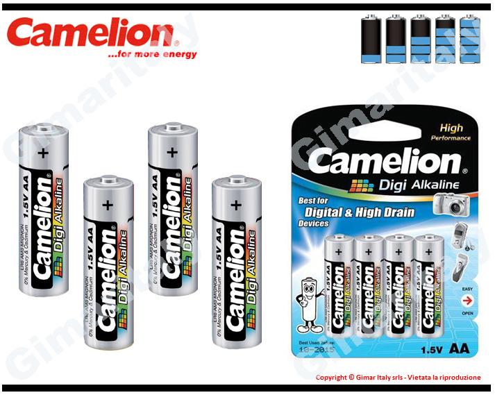 Batterie Pile Stilo AA LR6 Digi Alcaline Camelion