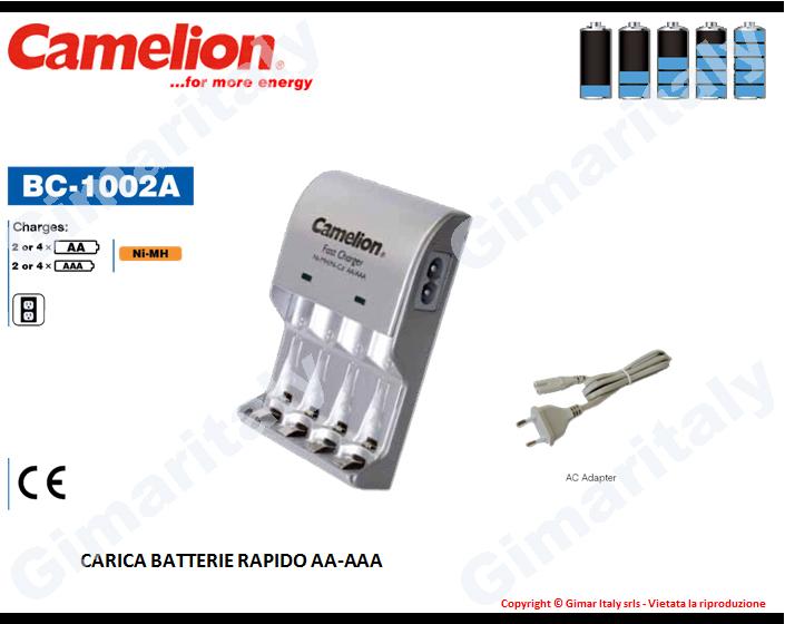 Caricabatterie Stilo AA e Ministilo AAA Camelion BC-1002