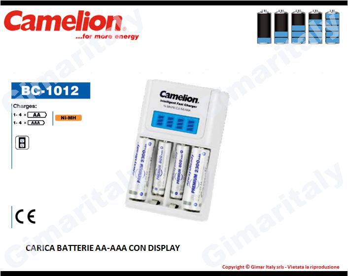 Caricabatterie Stilo AA e Ministilo AAA con display Camelion BC-1012