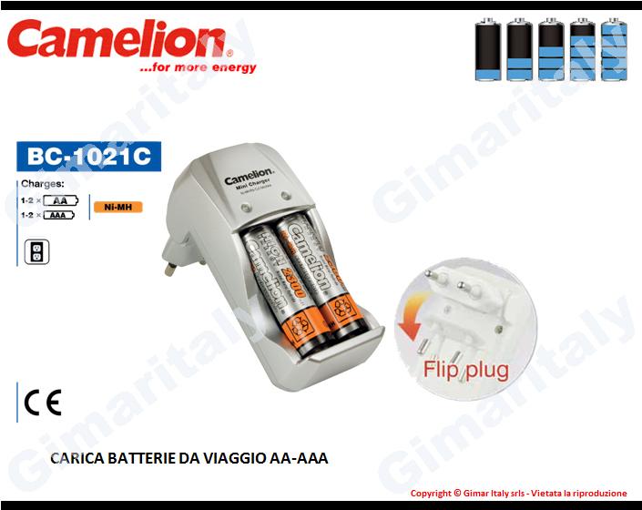 Caricabatterie Stilo AA Ministilo AAA Camelion BC-1021