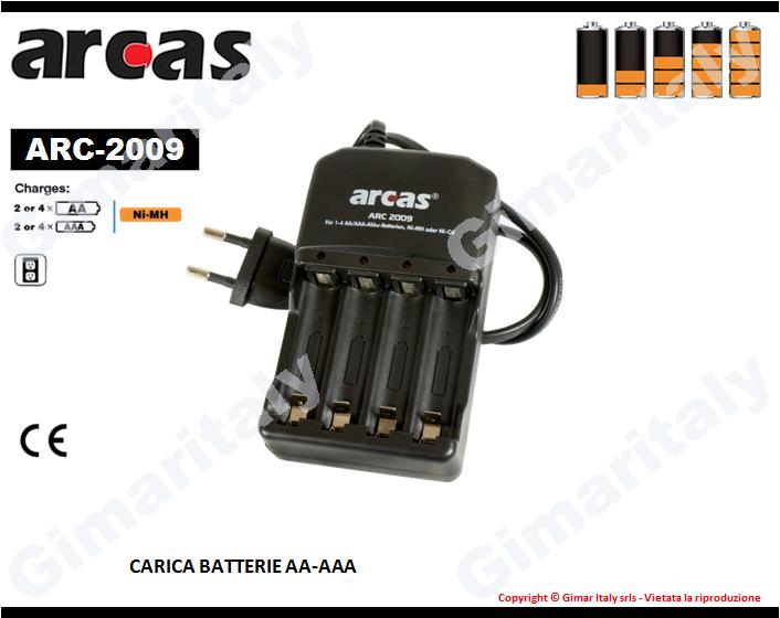 Caricabatterie Stilo AA e Ministilo AAA Arcas ARC-2009