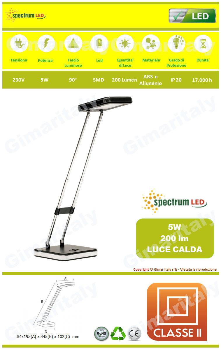 Lampada da Tavolo e Scrivania 5W luce calda Spectrum SLI042002