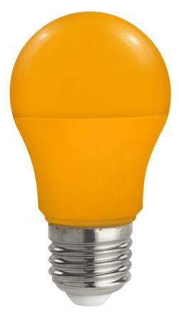Lampadina Led E27 globo A50 5W Colorata Arancione Spectrum