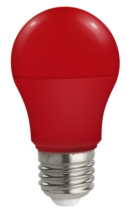 Lampadina Led E27 globo A50 5W Colorata Rossa Spectrum