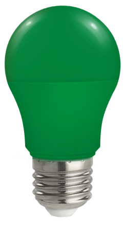 Lampadina Led E27 globo A50 5W Colorata Verde Spectrum