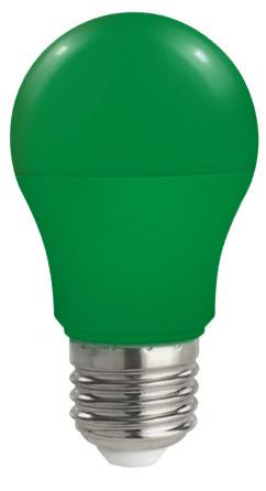 Lampadina Led E27 globo A50 5W Colorata Verde Spectcrum