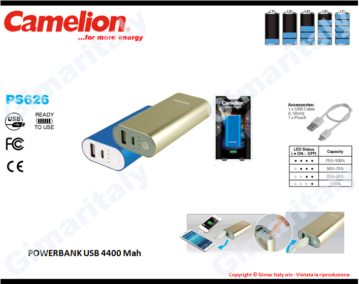 Powerbank 4400mah Camelion PS-626