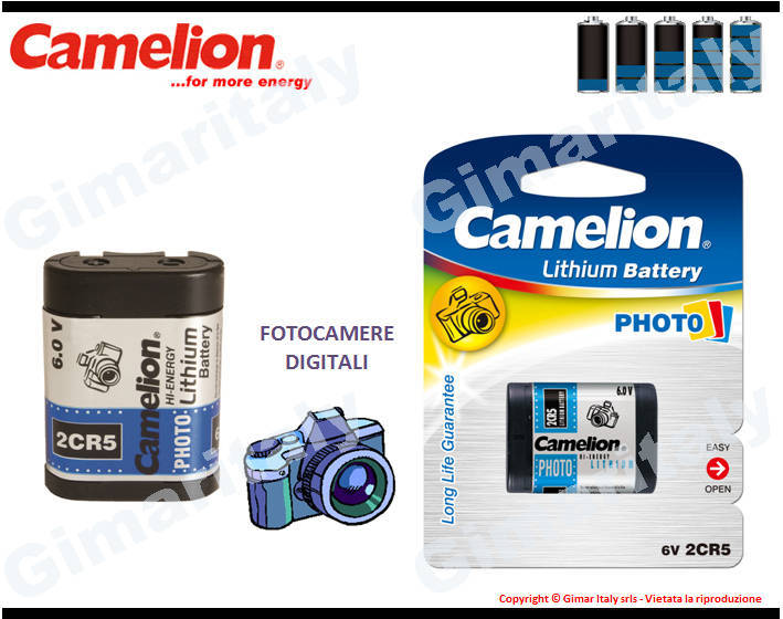 Batterie 2CR5-DL245-EL2CR5 Litio 6V Camelion