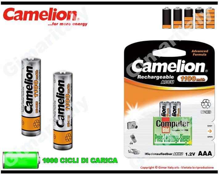Batterie Ministilo AAA Ricaricabili 1100 mAh Camelion