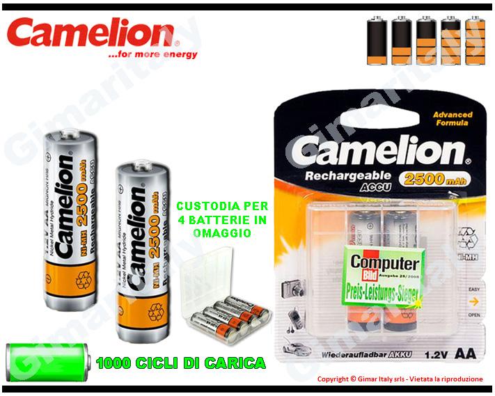 Batterie Stilo AA Ricaricabili 2500 mAh Camelion